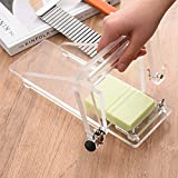 Soap Cutter Soaps Cutting ToolTOPQSC Adjustable Handmade Soap Cutter, Stainless Steel Handmade Soap Moulded Bread Knife Knife, Sharp Blade, Three-piece Set with Rope Knife, Wave Knife and Soap Knife