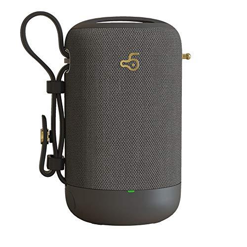 YUHUANG Bluetooth-Lautsprecher, wasserdichtes Plug-In tragbareBluetooth-Lautsprecher, Subwoofer, Auto Outdoor Home, schwarz, rot, grau und weiß,Gray