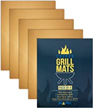 Kraftex Copper Grill Mats 4 Large Pack. Copper Grill Mats Non Stick for BBQs, Ovens & Baking. Grilling Mats for Gas Grill, Charcoal or Electric. Non Stick Heat Resistant Grilling Accessories.