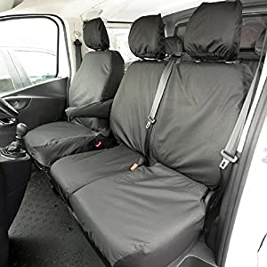 Custom Covers SC188B Tailored Heavy Duty Waterproof Front Seat Covers Black