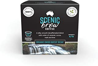 Scenic Brew, 6 packs of 10 pods (60 total), Swiss Water Decaf