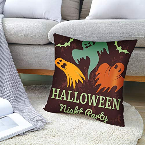 VWsiouev Funda de cojín, diseño de calabaza de Halloween, 45 cm x 45 cm