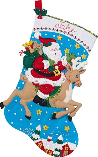 Bucilla Reindeer Santa Stocking Kit