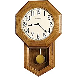Howard Miller Elliot Wall Clock 625-242 – Golden Oak with Quartz, Triple-Chime Movement