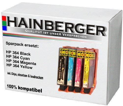 4 Hainberger XXL Patronen für HP 364 XXL inkl. Chip und Füllstandsanzeige