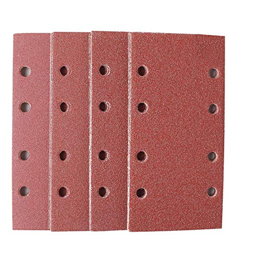 Schleifblätter 25Pcs, TACKLIFE ASD05C 93x185mm Schleifpapiere,40/60/80/120 Körnung,für BOSCH Schwingschleifer PSM 200 AES, PSS 200 A, GSS 230 AVE, GSS 23 AE