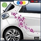 Adesivi per Auto - Fiori E Farfalle- Auto Macchina - novità!! Auto Moto Camper, Stickers, Decal (Fucsia)