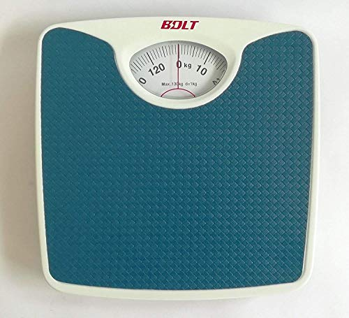 StuffHoods Original Deluxe Personal Manual Analog Weighing Scale upto 130 kgs capacity for human body weight machine (Mechanical Weighing Machine) BLUE