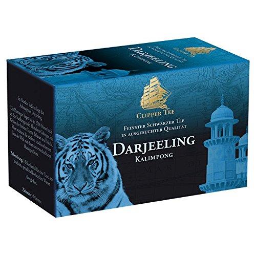 Goldmännchen Tee Clipper-Tee Darjeeling, blumig-nussiger Schwarztee, 20 einzeln versiegelte Teebeutel, 3er Pack (3 x 36 g)