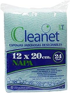 Cleanet: esponja jabonosa desechable napa 12x20 90grs. 10pqs