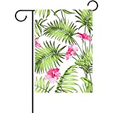 jiaxingdalin Dekoratives Aquarell blüht Tropische Betriebsblatt-Garten-Flaggen-Saisonfeiertags-Gewebe-Hochzeitstag-Garten-Flagge für Rasen und Garten FLAG-017