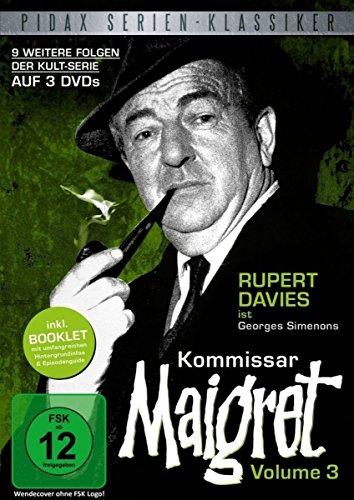 Kommissar Maigret, Vol. 3 / Weitere 9 Folgen der legendären Kultserie mit Rupert Davies nach dem Romanen von Georges Simenon (Pidax Serien-Klassiker) [3 DVDs]