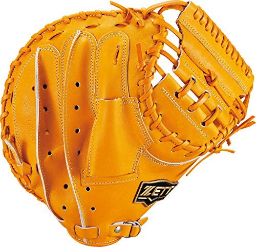 ZETT(ゼット) 軟式野球 キャッチャーミット ネオステイタス 右投げ用 オレンジ(5600) 日本製 BRCB31012