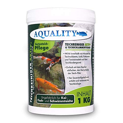 aquality Pond cleaner and pond sludge remover (works within minutes - pond sludge, leaves, food residue and pine needles), capacity: 1 kg