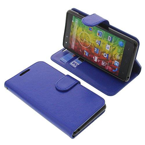 foto-kontor Tasche für MEDION Life E5001 Book Style blau Schutz Hülle Buch