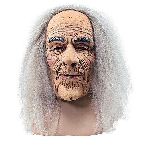 Maschera da vecchio spaventoso in gomma per Halloween