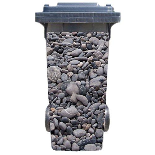 Werbetechnik Jeziorski Mülltonnenaufkleber Motiv: Steine