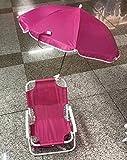 [page_title]-NoNo Klappbarer Strandkorb für Kinder, Klappstuhl für Strandcampingkonzert im Freien mit tragbarem Sonnenschirm mit Sonnenschirm (Rose Red)