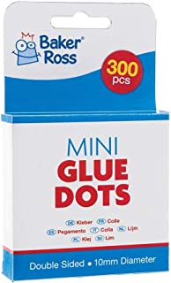 Baker Ross Mini Glue Dots — Kids' Crafts for Art Projects, Displays, Models and Decorations (Pack of 300)