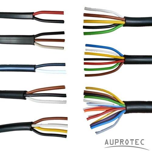 AUPROTEC Kfz Leitung 2-13 polig Anhängerleitung PKW LKW Meterware Auswahl: (13 adrig 13 x 1.5 mm² Rundleitung)