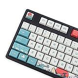Keycaps 108 PBT Hitzesublimation XDA-Profil Japanische Korallen-Meer Tastenkappe für Cherry MX Gateron Kailh Switch mechanische Tastatur
