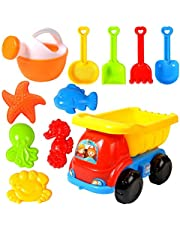 Strandspeelgoed, 11-delig, zandspeelgoed, met 4 wielen, gieter en 5 dierspeelgoed voor kinderen.