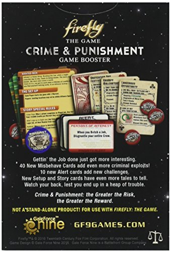 Battlefront Miniatures GF9FIR21 Firefly Crime and Punishment Booster Juego de Mesa, Multicolor