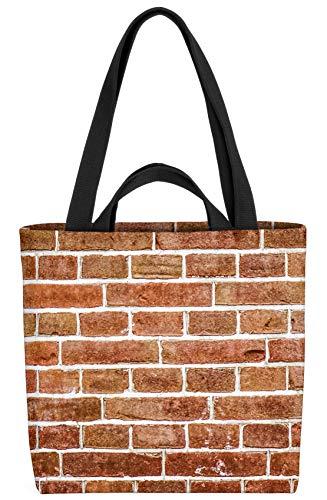 VOID Backstein Mauer Garten Tasche 33x33x14cm,15l Einkaufs-Beutel Shopper Einkaufs-Tasche Bag