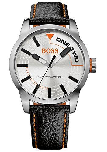 Boss 1513215 Tokyo - Reloj de Pulsera para Hombre (analógico, Movimiento de Cuarzo, Piel), Color Naranja