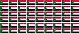 Mini Aufkleber Set - Pack glatt - 20x12mm - Sticker - Sudan - Flagge - Banner - Standarte fürs Auto, Büro, zu Hause & die Schule - 54 Stück
