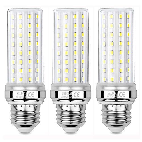 Sauglae Lampadine a LED da 20W, 150W Lampadine a Incandescenza Equivalenti, Bianco Naturale 4000K, 2000Lm, E27 Lampadine a Vite Edison, 3 Pezzi