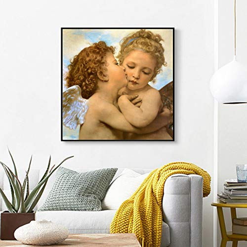 Malerei Plakate und Drucke Wandkunst Leinwand Malerei First Kiss Bilder für Wohnzimmer Dekor No Frame