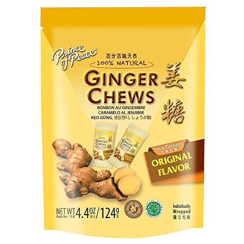 Prince Of Peace 100 Percent Natural Ginger Candy Chews 4.4 Ounces each (Pack of 6)