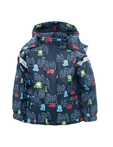 maximo Jungen Regenjacke Autos Regenmantel, Blau (denim 40), 86