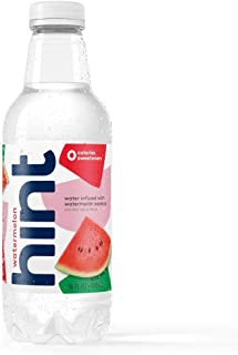 Hint Water Watermelon (Pack of 12), 16 Ounce Bottles, Pure Water Infused with Watermelon, Zero Sugar, Zero Calories, Zero ...