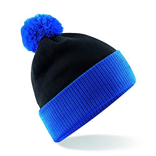 Beechfield Unisex Snowstar Beanie Einheitsgröße schwarz/blau
