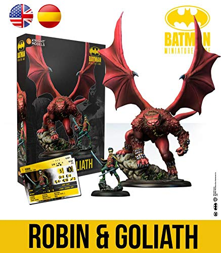 Knight Models Juego de Mesa - Miniaturas Resina DC Comics Superheroe - Batman - Robin & Goliath