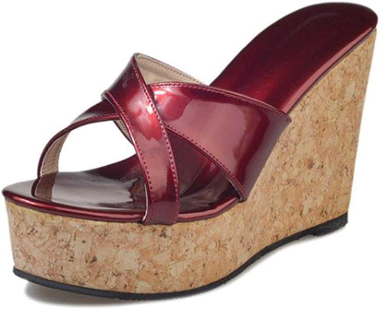 Women's High Heels Wedge Platform Sandals Ladies Slides Clog Casual Summer Attractive Flip Flops
