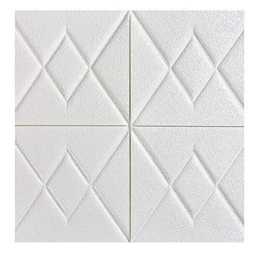 KUNYI Weiß Brick 3D Wandpaneele schälen und Stick-Tapete for Wohnzimmer Schlafzimmer Hintergrund Wanddekoration (Color : White, Size : 10 Pack)