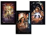 Close Up Star Wars Episode I-III Poster 3er-Set (61cm x