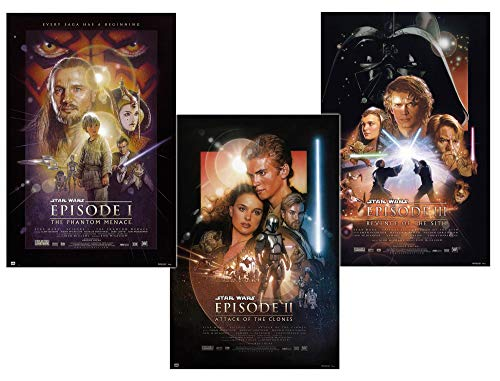 Close Up Star Wars Episodio I-III - Set di 3 poster (61 cm x 91,5 cm)