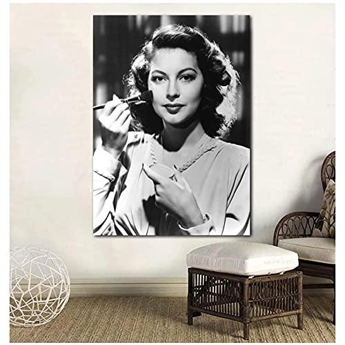 XIANGLL AVA Gardner Wandkunst Modulare Leinwand Make-Up Bilder Wohnkultur Retro Lady Malerei Drucke Poster Wohnzimmer Druck Auf Leinwand-50X70Cm Kein Rahmen