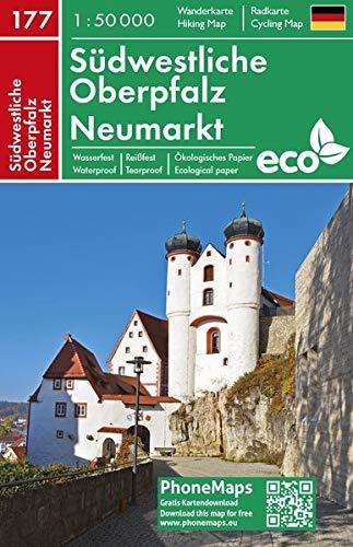 Südwestliche Oberpfalz, Neumarkt, Wander - Radkarte 1 : 50 000 (PhoneMaps Wander - Radkarte Deutschland, Band 177)