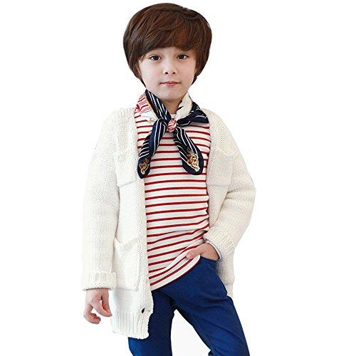 BHYDRY NiñIto Infantil Niños Bebé Chico Chica Raya De Manga Larga Remata Las Blusas Camiseta(Rojo,110)