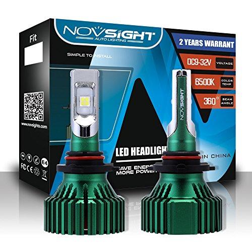 Kit De Conversion D'ampoules De Phares À DEL Extrêmement Lumineux (9005,9006, H4, H7, H11, H13) Phares À DEL Tout-En-Un, Blanc Froid 6500K 1W LM 60W,9005