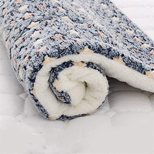 Pet Mat Thicken General Blanket for Cats and Dogs In Autumn and Winter, Non-slip Seat Cushion, Keep Warm and Fluffy (blue,79 * 60cm)