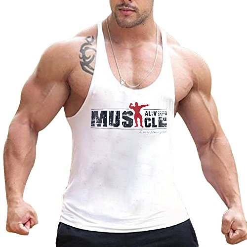 Alivebody Camisetas De Tirantes Deportivo Gimnasio Fitness Running Tops Camisetas T-Shirts