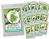 Orgánico: Paquete de 17 - Semillas de hierbas para habitaciones mixtas - Plantas WePlant