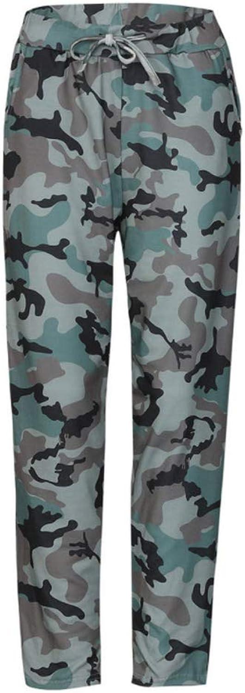 ALLUMK Women Drawstring Waist Jogger Pants Casual Stripe Pants with Pockets