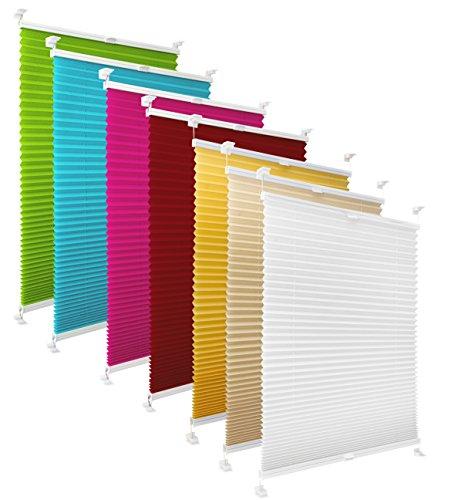 Preisvergleich Produktbild way2way Plissee / grün appel 80cm / - verspannt - Smartfix - Klemmfix - ohne bohren - viele Farben & Größen - Sichtschutz - lichtdurchlässig